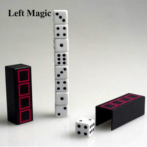 Tower of Dice - Close Up Magic / Magic Tricks Gimmick Illusions Magician Dice Appearing Vanishing Fun Easy To Do(China)