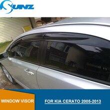 Car window rain protector For KIA CERATO 2005-2013 Window Visor for 2005 2006 2007 2008 2009 2010 2011 2012 2013 SUNZ