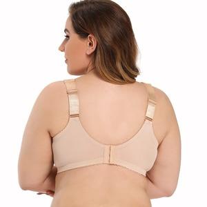 Image 4 - Artı boyutu tam kapsama dantel sütyen kadınlar için seksi iç çamaşırı 34 36 38 40 42 44 46 B C D E F G H fincan büyük meme tel ücretsiz Bralette