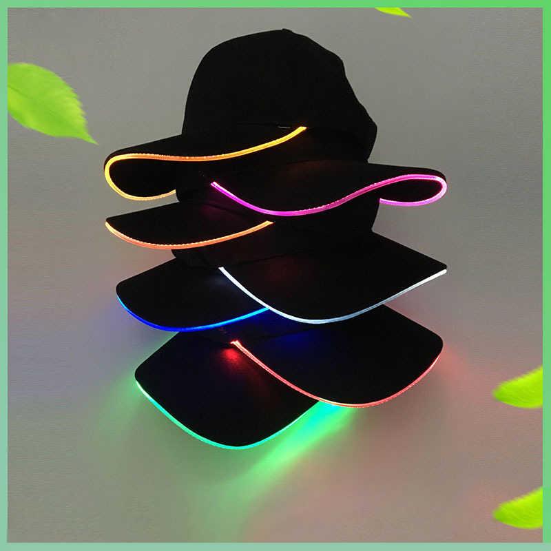 LED 野球キャップ女性男性 Soild 色調整可能な屋外スナップバック帽子ヒップホップスポーツトラック運転手キャップ春と秋