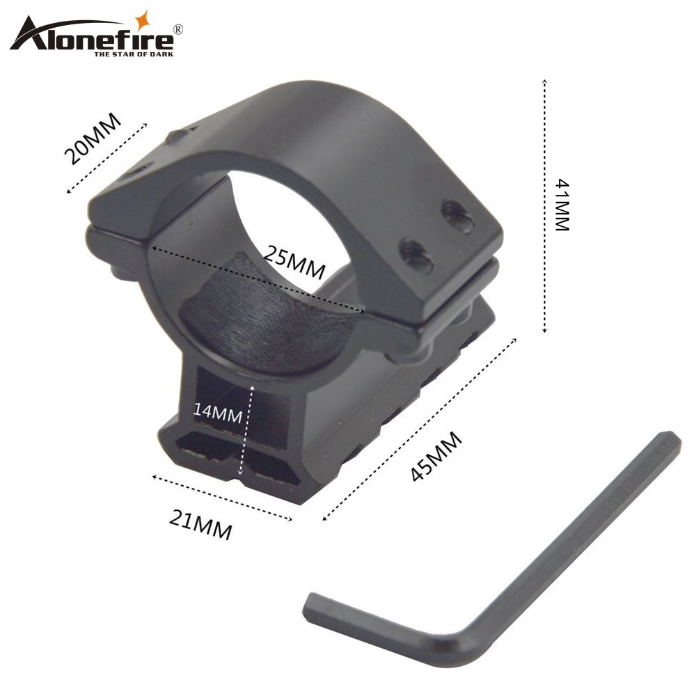 Alonefire Y28 25mm Ring Adapter 21mm Rail Bases Weaver Picatinny Air Rifle Shot Gun Laser Sight Scope Tactical Mount Holder Clip