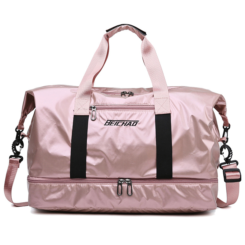 Large Travel Bag Men Hand Luggage Travel Duffle Weekend Sport Bag Women Fitness Multifunctional  Dry And Wet Separation Handbag