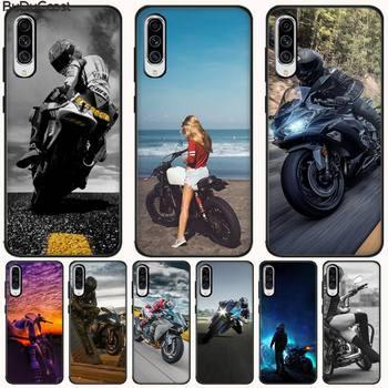 CUCI Moto Cross Moto deportes negro TPU suave teléfono funda para Samsung A10 20 30 40 50 70 10S 20S 2 Core C8 A30S A50S A7 8 9