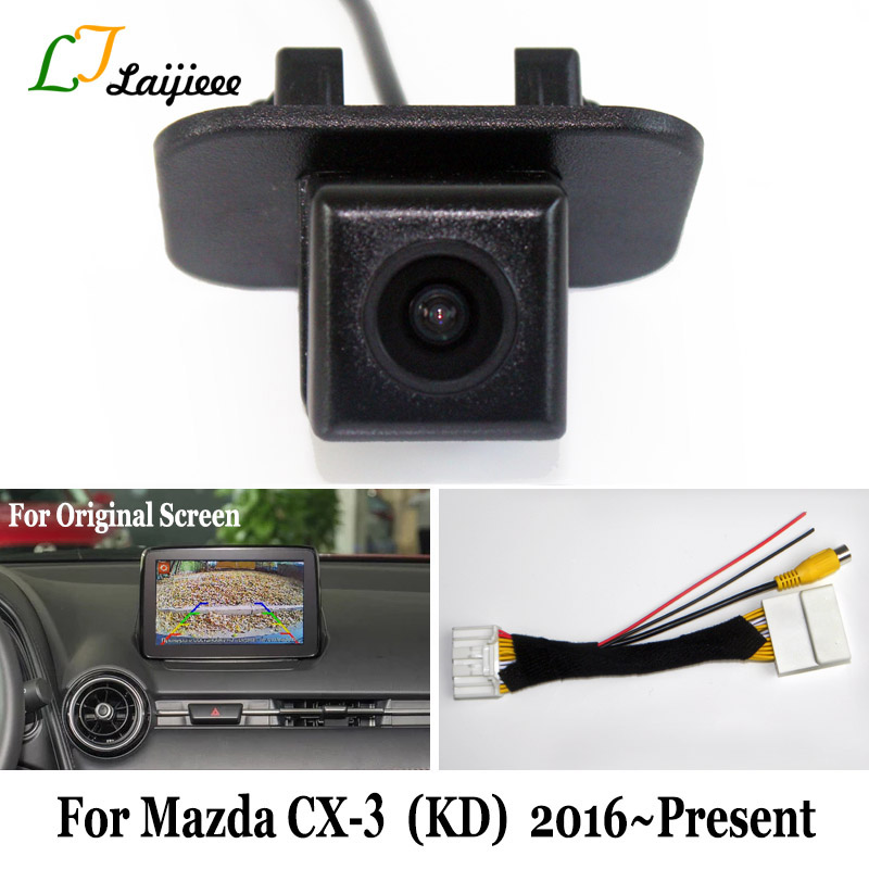 6V HD Reverse Camera For Mazda CX-3 CX3 CX 3 KD 2016 to Present   Car Rear Backup Camera  amp  28 Pins Adapter cable For OEM Monitor