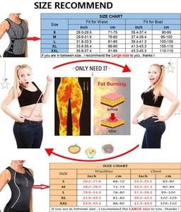 Image 5 - NINGMI Women Sauna Vest Slimming Waist Trainer Tummy Trimmer Body Shaper Slim Neoprene Sweat Shirt Zipper Weight Loss Tank Top