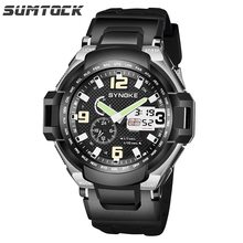 Sumtock  Mens Fashion Sport Watch  Digital Waterproof Wristwatches Relogio Masculino Military Army LED Men Electronic Watches bangwei military digital watch men style fashion sport army watch led electronic wrist watches men fitness pedometer smart watch