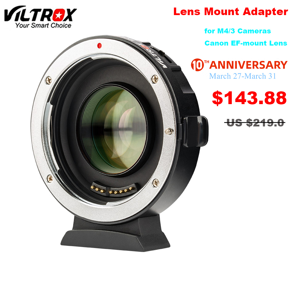 Viltrox EF-M2II Auto-focus Speed Booster Adapter Focal Reducer 0.71x For Canon EF Mount Lens For Panasonic Olympus M4/3 Camera