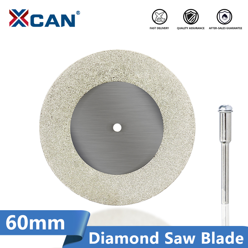 1pcs Blades+1pcs Rod Diamond Saw Blade 60mm Rotary Tool Accessory Cutting Blades For Tool Free Shipping