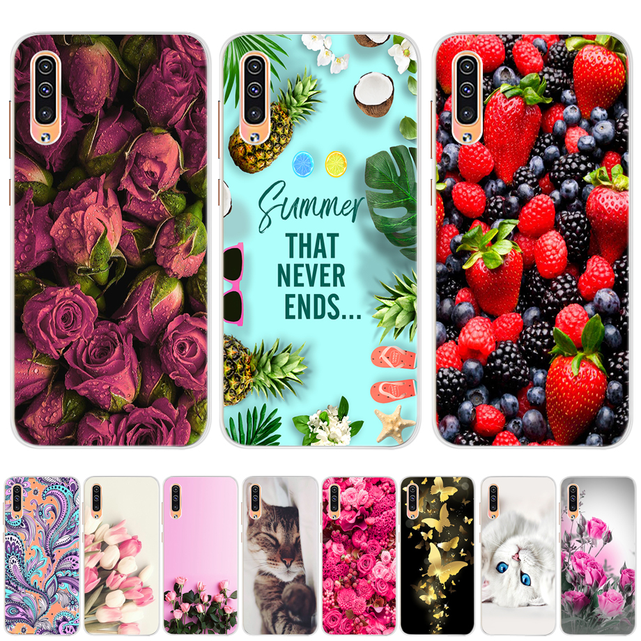 For Samsung Galaxy A50 Case For Samsung A50 A50s A30s A505F A 50 Case Bumper Silicone Soft Painting TPU Back Cover Phone Case