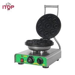 ITOP 1750W Electric DIY Donut Maker Party Dessert Bakeware Doughnut Making Machine Baking Pan Non-stick Iron Toaster