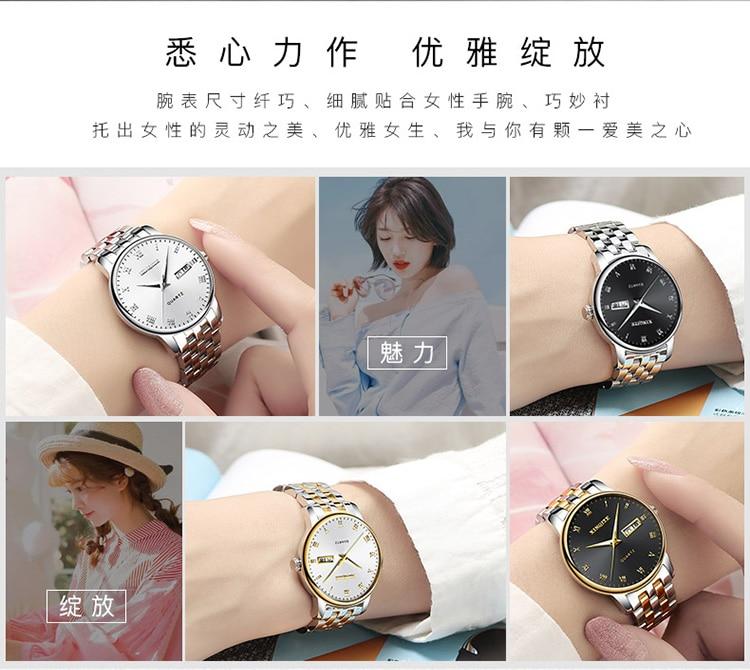 2019 novo relógio de ouro mulher relógios
