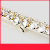 Flute High Quality Japanese Flute Musical Instrument 211SL Flute on C and 16 Key Flute Tune Music Professional silver Flute