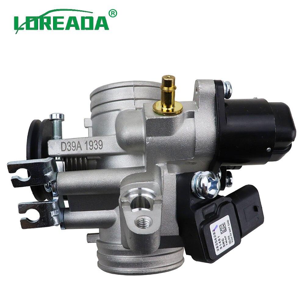 Loreada original corpo do acelerador da motocicleta para a motocicleta 125cc 150cc com iaca 26179 e sensor tps 35999