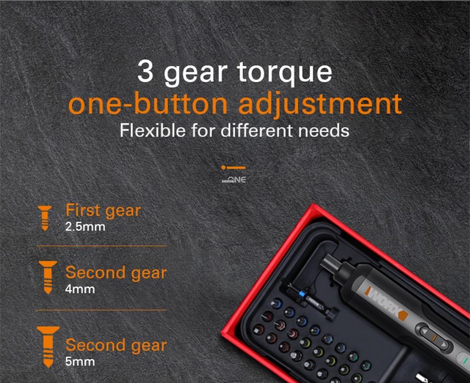 3 gear torque
