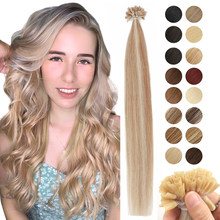 MRSHAIR-Extensions de cheveux naturels à la kératine, capsules non-remy lisses, pré-collées, 16, 20, 24 pouces, pointe U