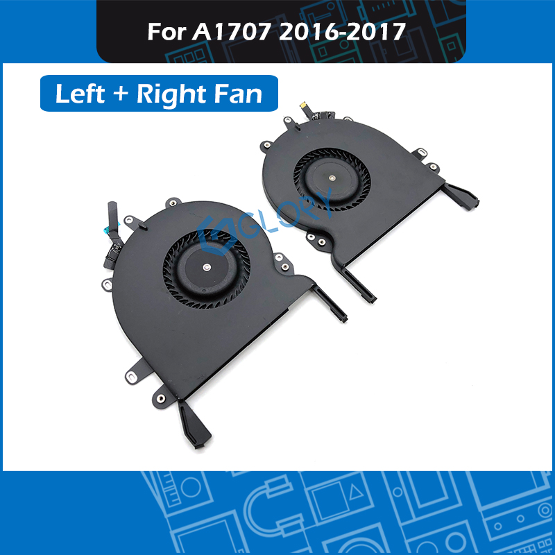 10pair/Lot A1707 Fan Left + Right for MacBook Pro Retina 15 Touchbar A1707 CPU Cooling Cooler Fan set Replacement 2016 2017 image