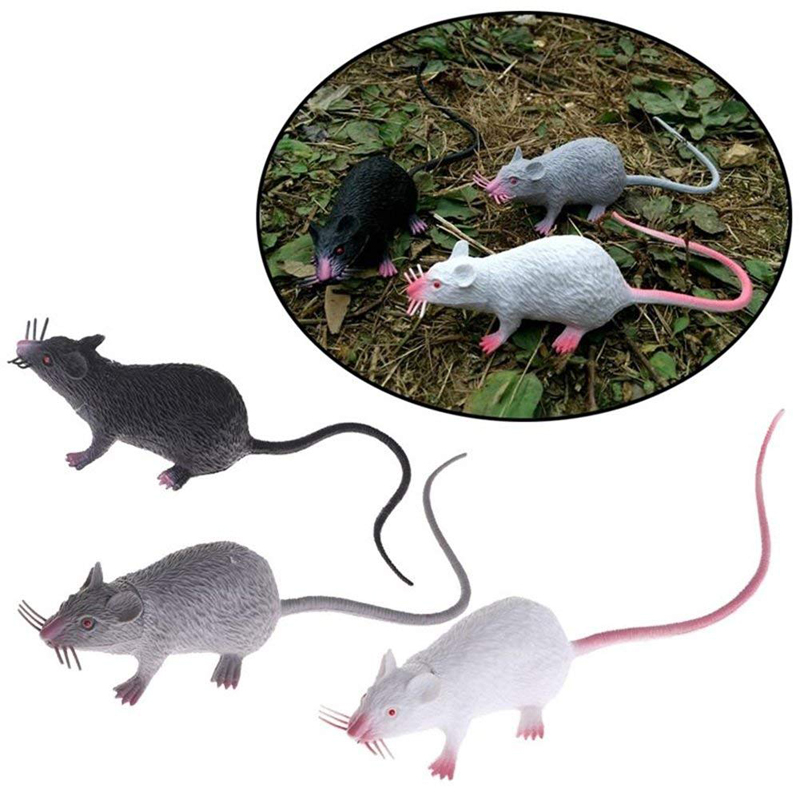 PVC Simulation Mouse Funny Tricky Joke Fake Lifelike Mouse Model Prop Halloween Gift Toy Party Decor Kids Novelty & Gag Toys