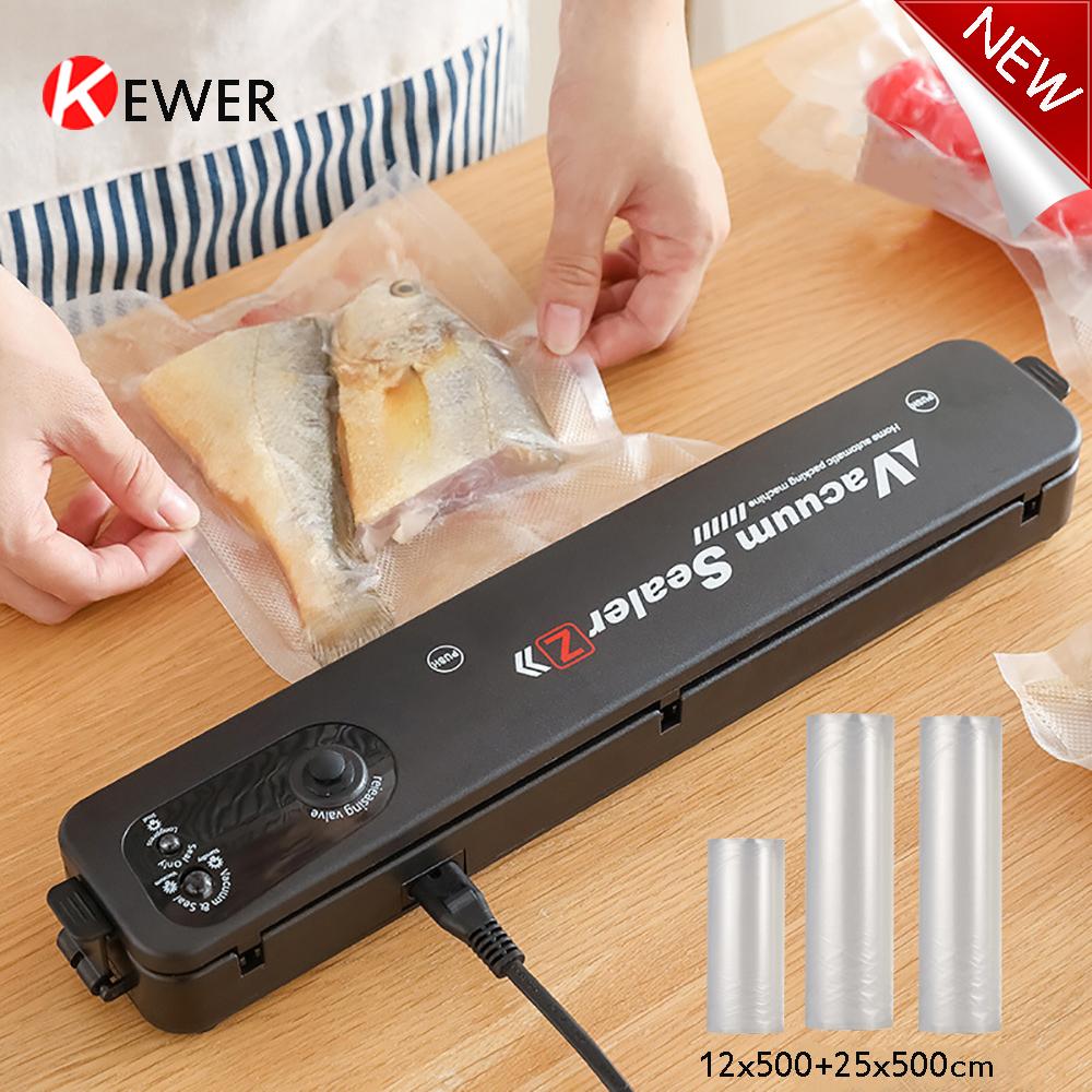 KEWER New Electric Vacuum Sealer For Food Storage Vacuum Food Sealer Bags Sealing Machine Packaing Min Kitchen Sous Vide Product