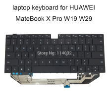 US English backlit keyboard for Huawei MACH-W19 MateBook X Xpro KLV-W19 KLV-W29 enter key Screws black NSK-370BQ 9Z.NG2BQ.001