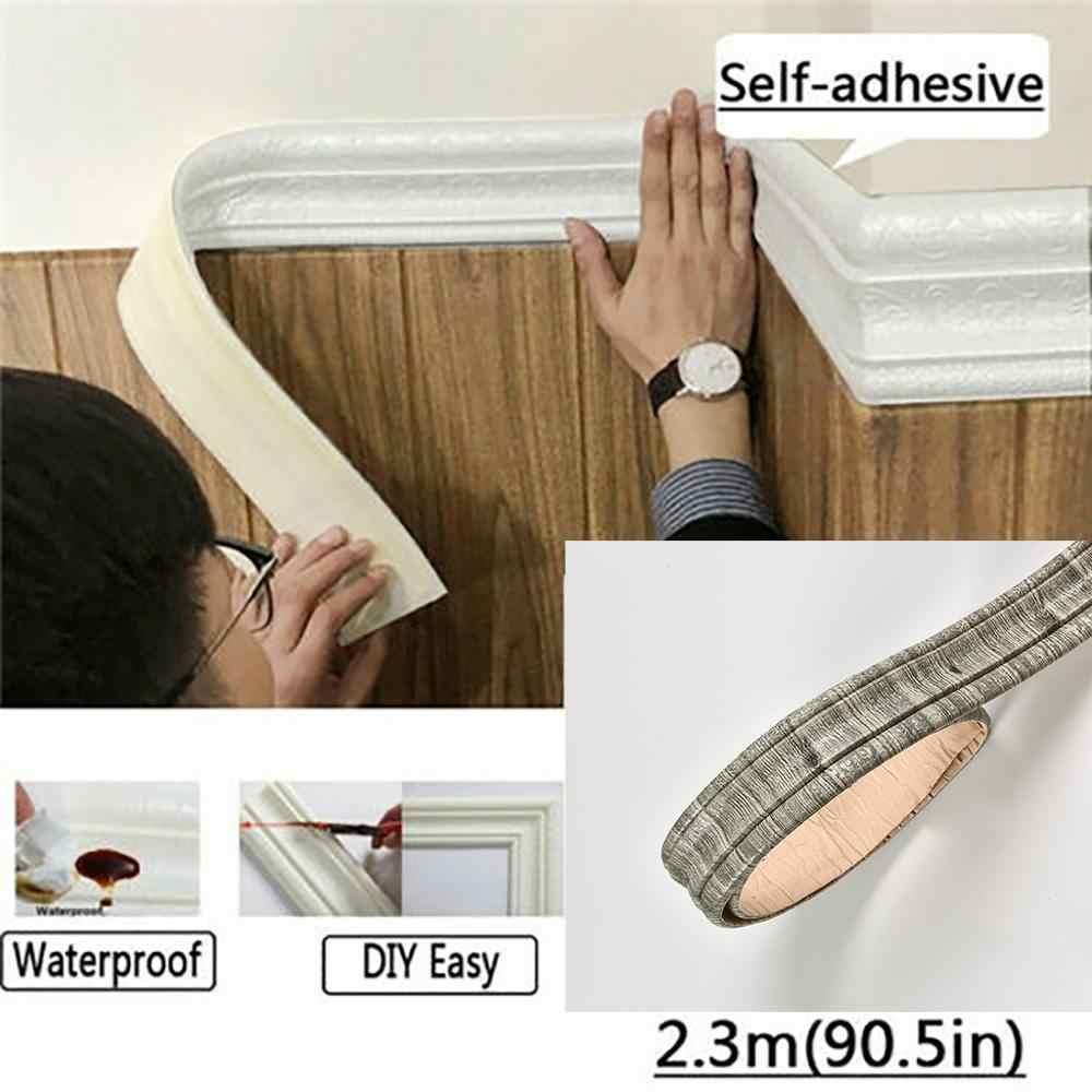 3D Selfadhesive Waterproof Pattern Wallpaper Border Wall Decor Removable Sticker