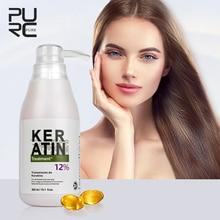 PURC Brazilian keratin 12% formalin 300ml keratin treatment Curly Hair Straightening Smoothing Product repair damaged hair