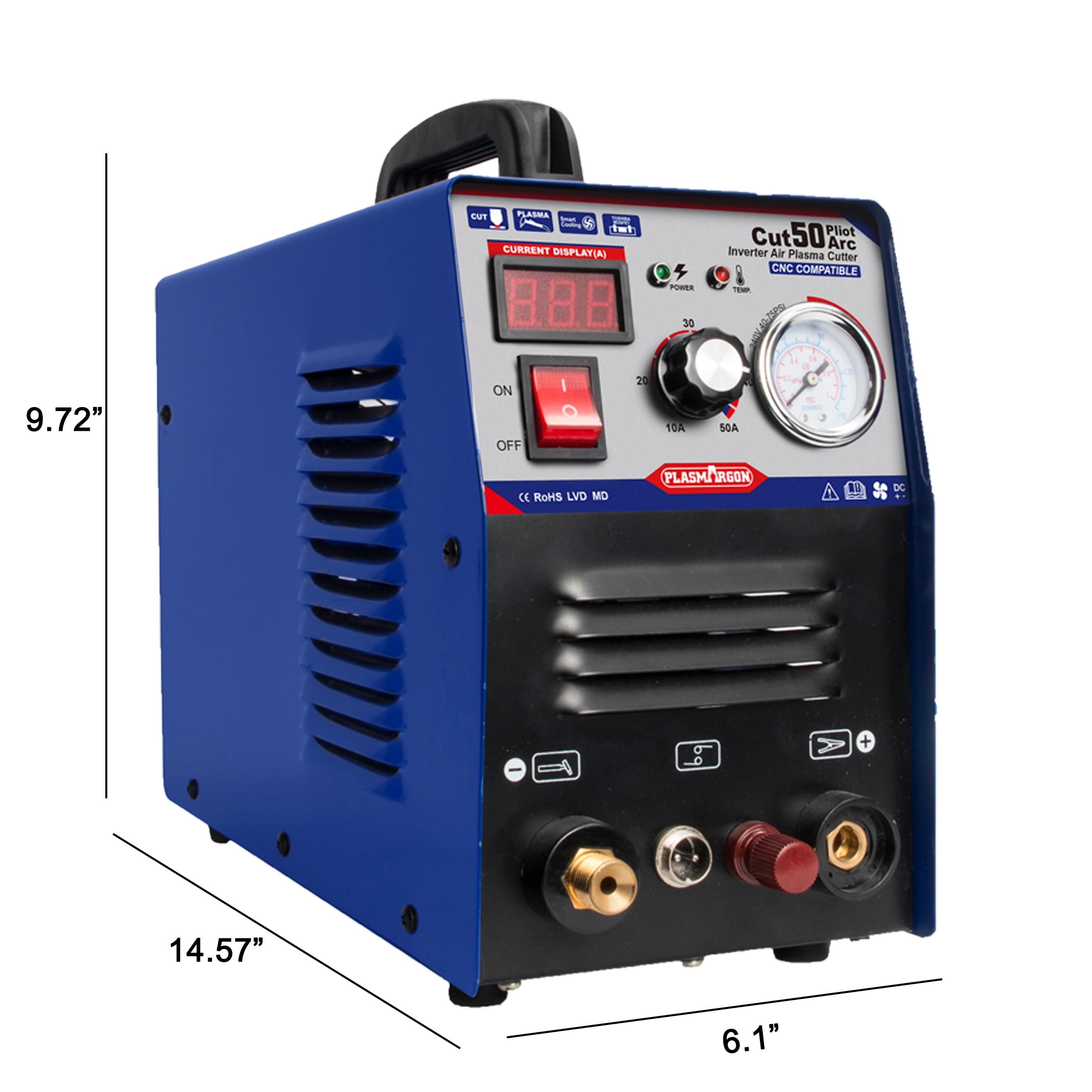 CUT 50 Compatible Plasma cutter & accessoires 10mm 50A Plasma Cutter Pilot Arc CNC 110/220v