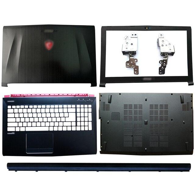 Écran LCD pour ordinateur portable, coque arrière, lunette avant, charnières/accoudoir, boîtier inférieur pour MSI GE62 GE62MVR GE62VR, MS 16J1, MS 16J2, MS 16J3