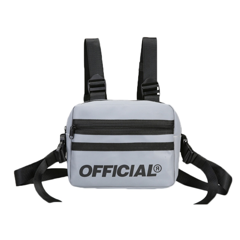 Fashion Street Style Creative Reflective Chest Bag Multi-function Vest Chest Rig Bag Hip-Hop Style High Quality Waist Pack