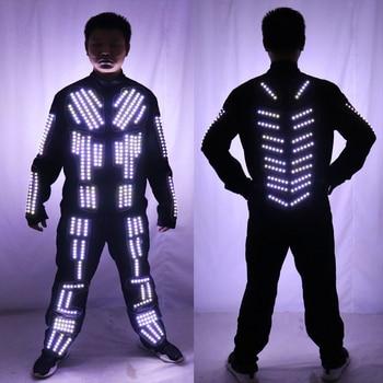 New arrived LED Robot Costume/ LED Dance Performance / Luminous Clothing /LED Suits For Men Women DJ Show Light Clothing led costume led clothing light suits led robot suits kryoman robot david guetta robot size color customized