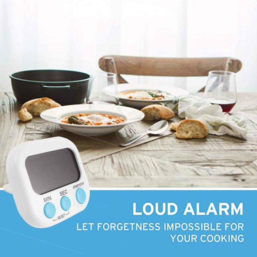 1х магнитный кухонный таймер, обратный отсчет ЖК-цифровой секундомер мини практичный таймер для приготовления пищи будильник