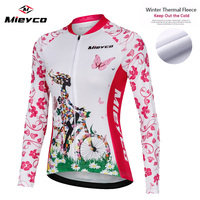 Winter Thermal Fleece Cycling Jersey Long Sleeve 2019 Bike Shirt Reflective maillot ciclismo Downhill Cycling Shirt MTB Jersey