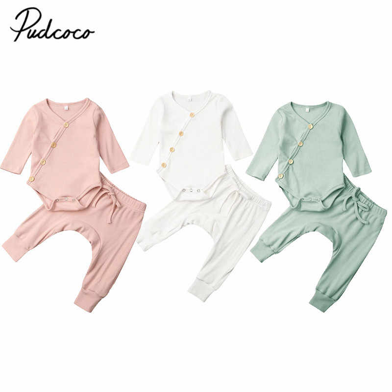 2019 Baby Spring Autumn Clothing Infant Infant Baby Boy Girl Clothes Winter Long Sleeve Tops Pants Outfits 2Pcs Sets Tracksuits