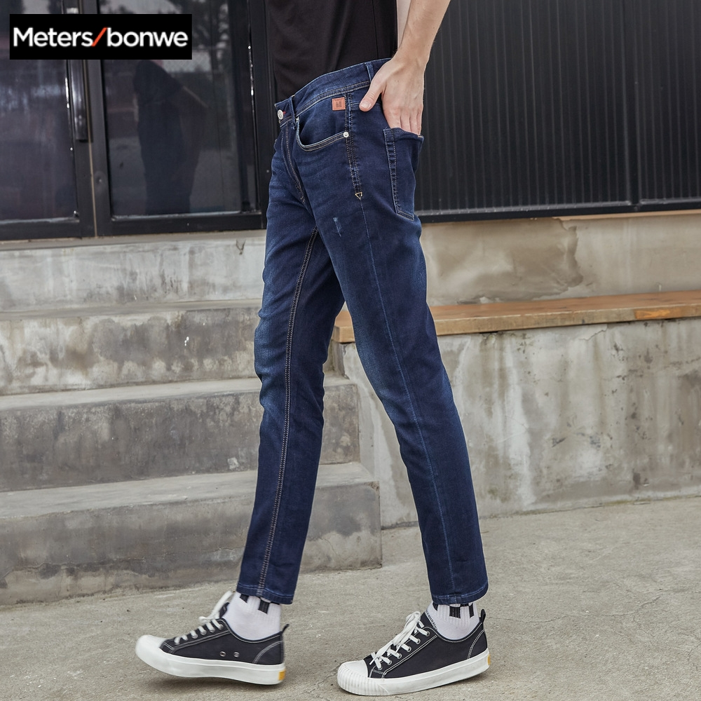 Metersbonwe Straight Jeans Men 2019 Autumn New Casual Youth Trend Slim Jeans Mens  Pants Men Trousers