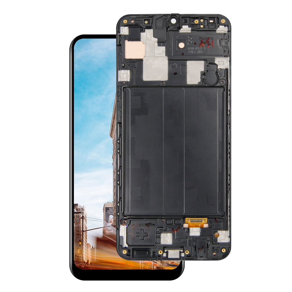 For <font><b>Samsung</b></font> Galaxy <font><b>A30</b></font> A305 A305F/DS A305F A305FD A305A <font><b>LCD</b></font> Display Touch Screen Digitizer With Frame Replacement image