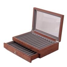 23 Wood Pen Display Box, Storage Pen Pen Box, Storage Box, Glass Window, Two Display Box and Drawer