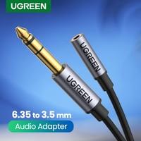 UGREEN 6.5mm do 3.5mm Adapter słuchawek TRS 6.35mm 1/4 męski na 3.5mm 1/8 żeński złącze Stereo Adapter Audio do wzmacniaczy gitara