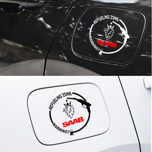 Car Styling Waterproof Tank Body Stickers Car Fuel Tank Cap Sticker For SAAB 9-3 93 9-5 9 3 9000 9 5 Accessories Car Styling