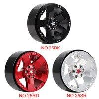 INJORA 4PCS Metal 2.2 Beadlock Wheel Rim 5 Spokes Hub for 1/10 RC Rock Crawler Axial SCX10 90046 RR10 Wraith TRAXXAS TRX4 3