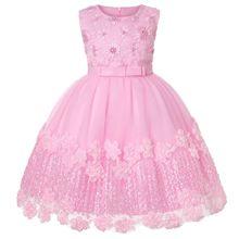Girls Dress Summer Embroider Kids Birthday Party ball Gown Dresses For Girls Elegent Princess Dress Children Clothing vestidos