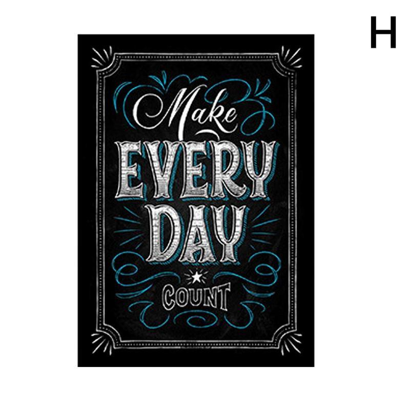 Вдохновляющий постер на английском языке, картина, мотивационный плакат, школьная офисная классная комната, для стен, картины для школьников, школьниц - Цвет: H
