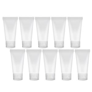 10Pcs/Set Protable Mini PVC Toothpaste Face Cream Lotion Refillable Washable Soft Tube Tube Cosmetic Empty Container Bottle
