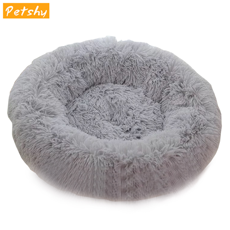 Petshy Plush Warm Cat Bed House For Pet Sleeping Cushion Pad Puppy Kitten Small Dog Cats Kennel Nest Bed Home Cat Supplies
