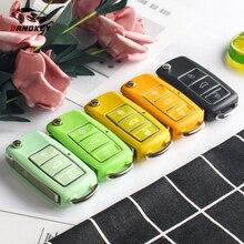 Dandkey Flip Car Key Shell Cover For VW Volkswagen Skoda Seat Golf Passat Polo 3 Button