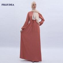 FRIJUDEA 2019 Muslim Abaya Dress for Woman Islam Traditional Robe Caftan Women Long Abayas
