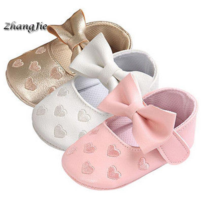 Baby PU Leather Baby Boy Girl Baby Moccasins Moccs Shoes Bow Fringe Soft Soled Non-slip Footwear Crib Shoes ZJ004
