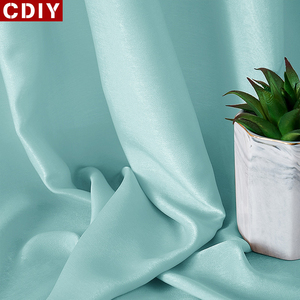 CDIY Solid Silk Tulle Curtains