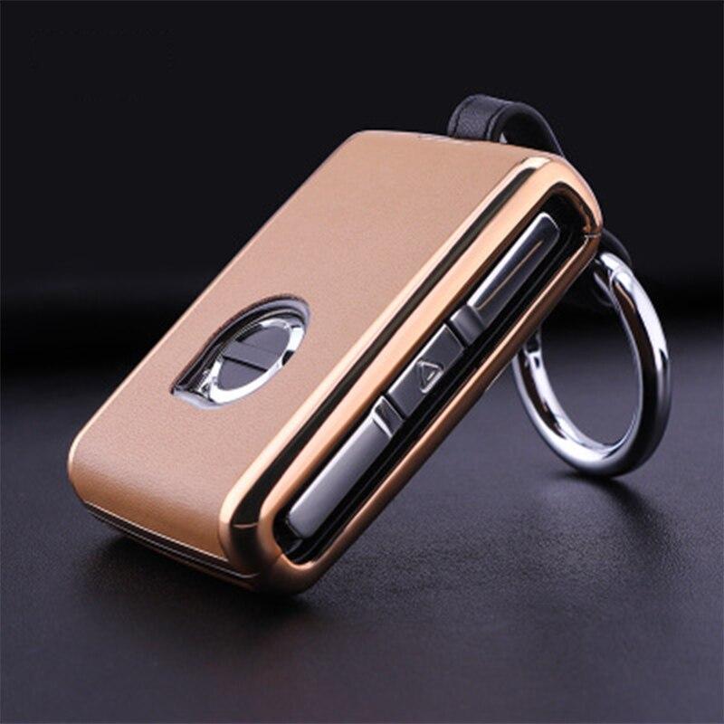 1 шт. бутик PU Lychee кожаный чехол для автомобильного ключа унисекс модный чехол для автомобильного ключа автомобильные аксессуары для Volvo XC90 S90...