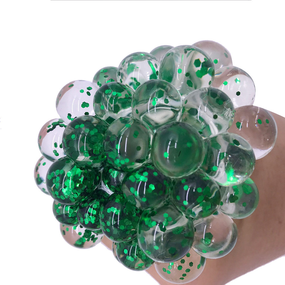 Toys Mesh Ball Squeeze-Grape Anti-Stress Fidget Gifts Things Prank Funny Adults Colorful img4