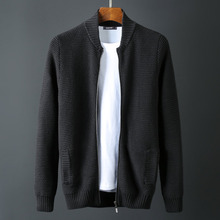Stand Collar Men Luxury 1010% Cotton Zipper Winter Solid Col