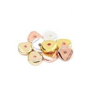 WLYeeS 6 мм золотые серебряные бусины для монет плоские круглые натуральные гематитовые камни 190 шт свободные бусины для изготовления ювелирны...